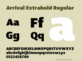 Arrival Extrabold