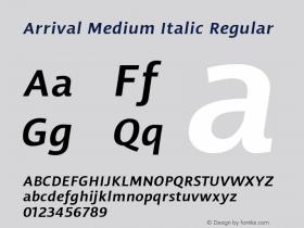 Arrival Medium Italic