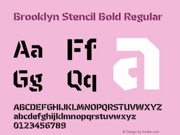 Brooklyn Stencil Bold