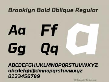 Brooklyn Bold Oblique