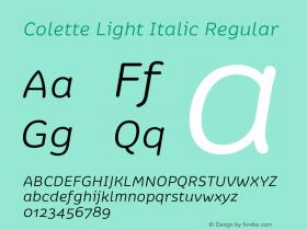 Colette Light Italic