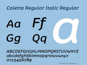 Colette Regular Italic