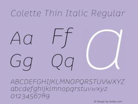Colette Thin Italic