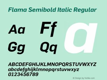 Flama Semibold Italic