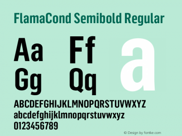 FlamaCond Semibold