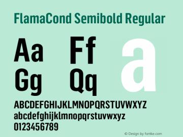 FlamaCond Semibold