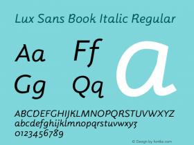 Lux Sans Book Italic