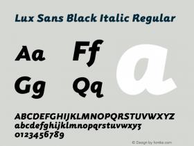 Lux Sans Black Italic