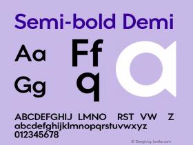 Semi-bold