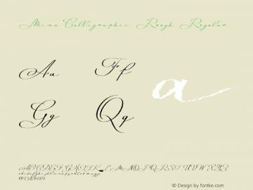 Mina Calligraphic Rough