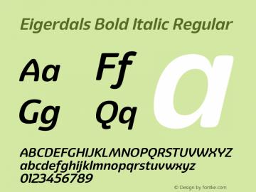 Eigerdals Bold Italic