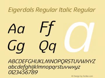 Eigerdals Regular Italic