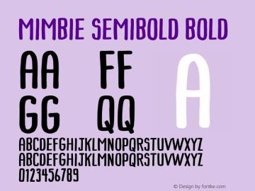 Mimbie SemiBold