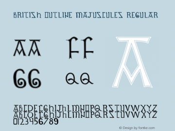 British Outline Majuscules