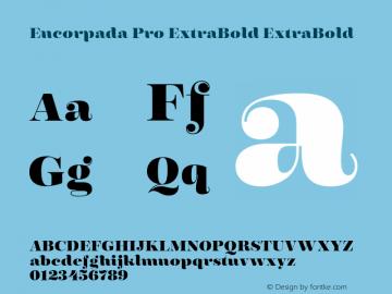 Encorpada Pro ExtraBold