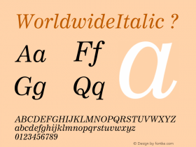 WorldwideItalic