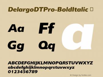DelargoDTPro-BoldItalic