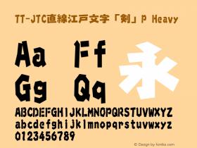 TT-JTC直線江戸文字「剣」P