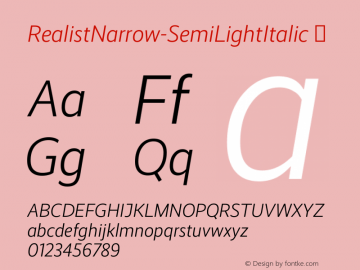 RealistNarrow-SemiLightItalic