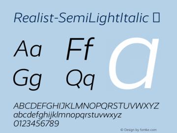 Realist-SemiLightItalic