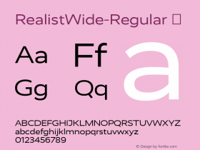 RealistWide-Regular