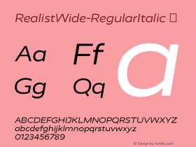 RealistWide-RegularItalic