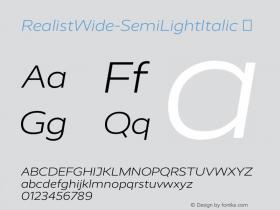 RealistWide-SemiLightItalic