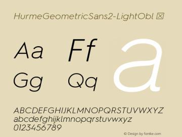 HurmeGeometricSans2-LightObl