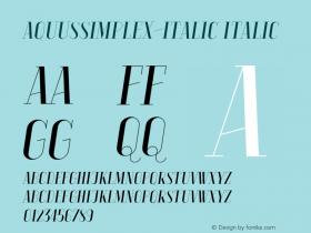 AquusSimplex-Italic