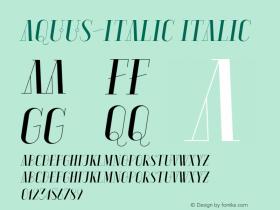Aquus-Italic