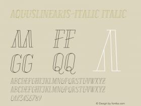 AquusLinearis-Italic
