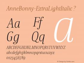 AnneBonny-ExtraLightItalic