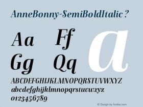 AnneBonny-SemiBoldItalic