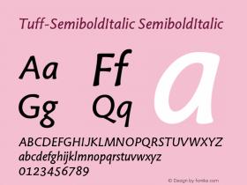 Tuff-SemiboldItalic