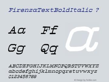 FirenzaTextBoldItalic