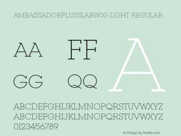 AmbassadorPlusSlab-Light