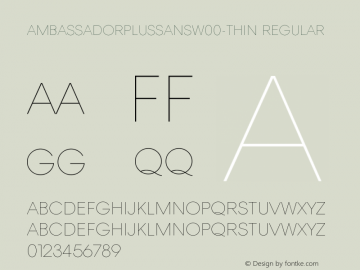 AmbassadorPlusSans-Thin