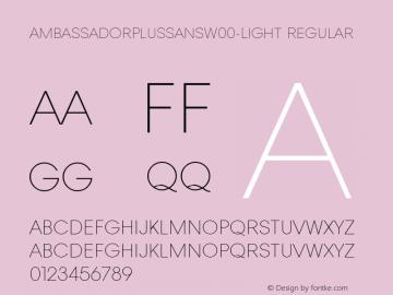 AmbassadorPlusSans-Light
