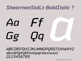 ShearmanStdLt-BoldItalic