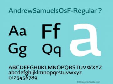 AndrewSamuelsOsF-Regular
