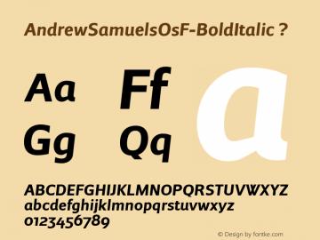 AndrewSamuelsOsF-BoldItalic