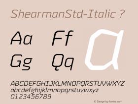 ShearmanStd-Italic