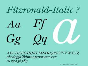 Fitzronald-Italic