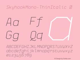 SkyhookMono-ThinItalic