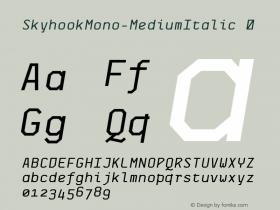 SkyhookMono-MediumItalic