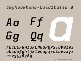 SkyhookMono-BoldItalic