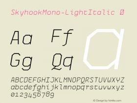 SkyhookMono-LightItalic