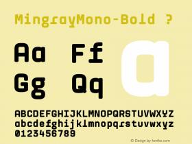 MingrayMono-Bold