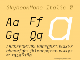 SkyhookMono-Italic