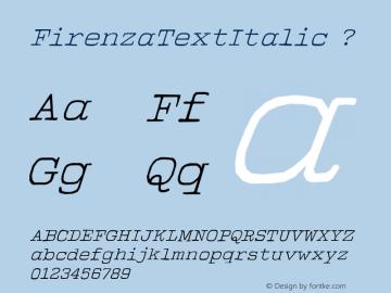 FirenzaTextItalic